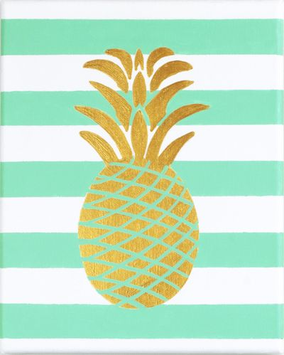 Americana On Canvas Summer Pineapple Decoartprojects Cute