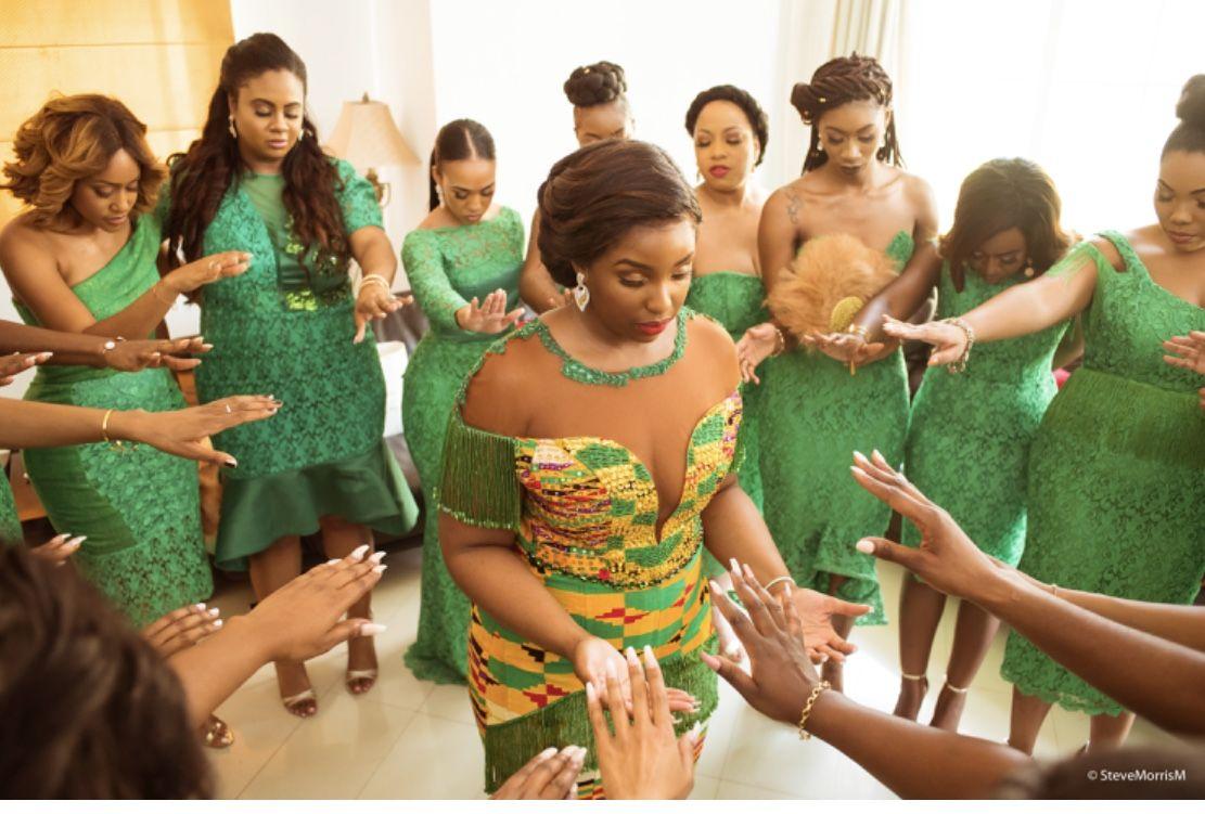 Ghana Wedding Bridesmaids Ghana Wedding Ghanaian Wedding Bridesmaid