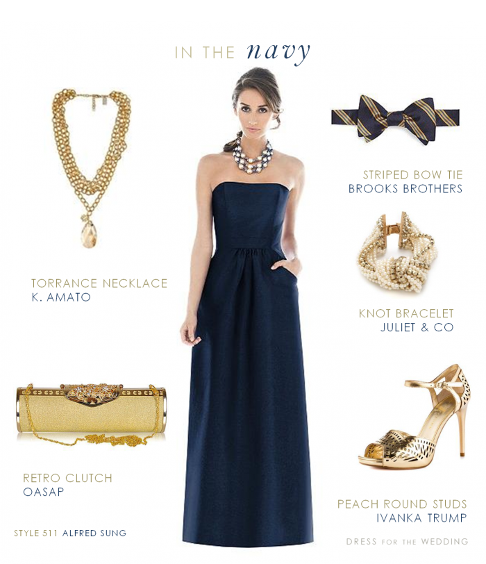 Navy and Gold | Formal', Navy gold and Dresses.