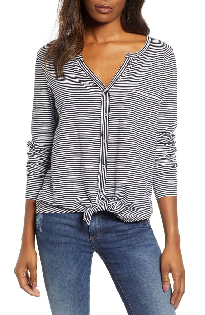 134241d98 Caslon® Tie Front Top | Nordstrom | Trunk Club Wishes in 2019 ...
