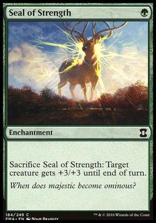 Seal Of Strength Mtg Magic Cards Magic The Gathering