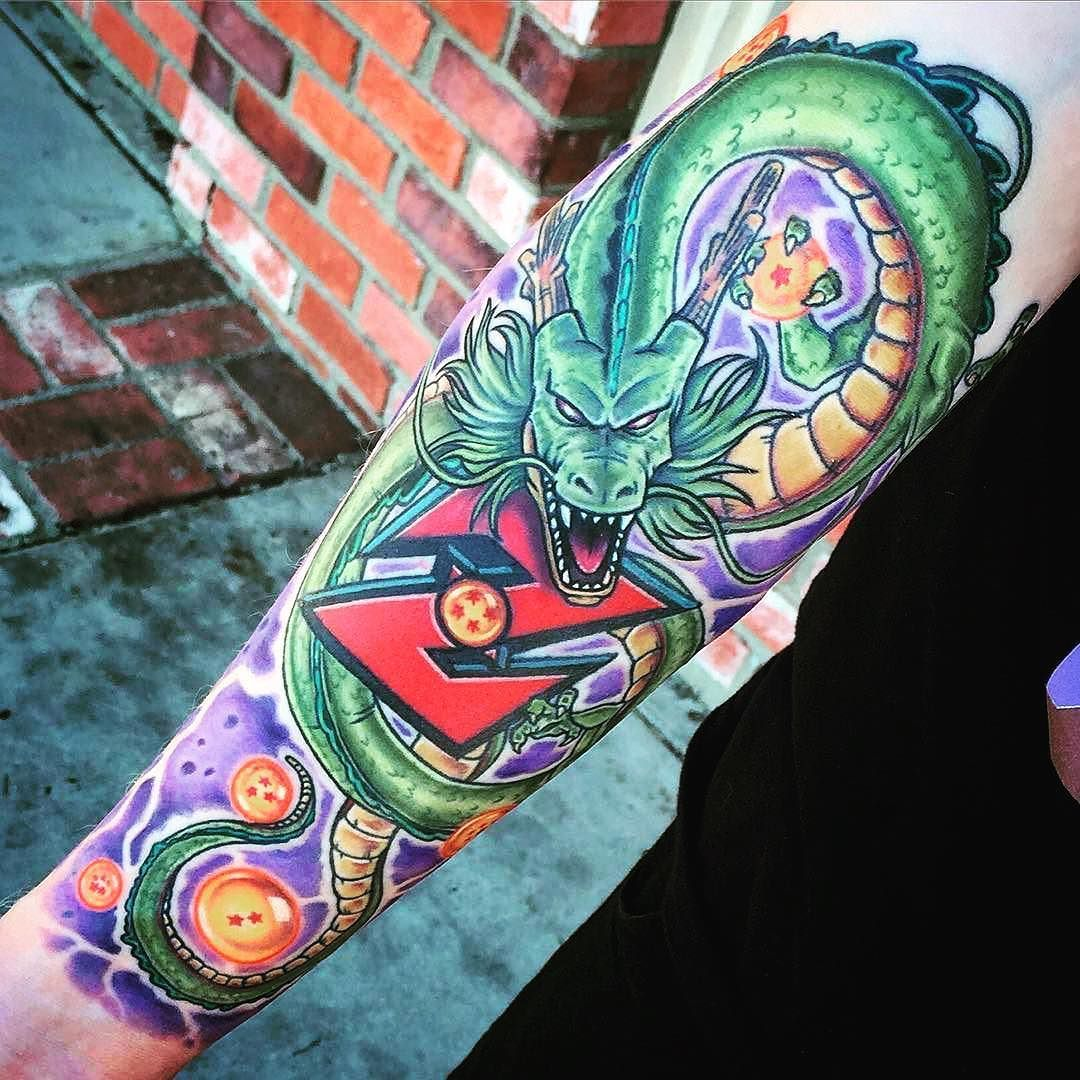 Repost Marcdurrant Did A Little Touch Up On This Dragon Ball Z Fix Up That I Did We Went Over The Mouth Again To K Dragon Ball Tattoo Z Tattoo Dragon