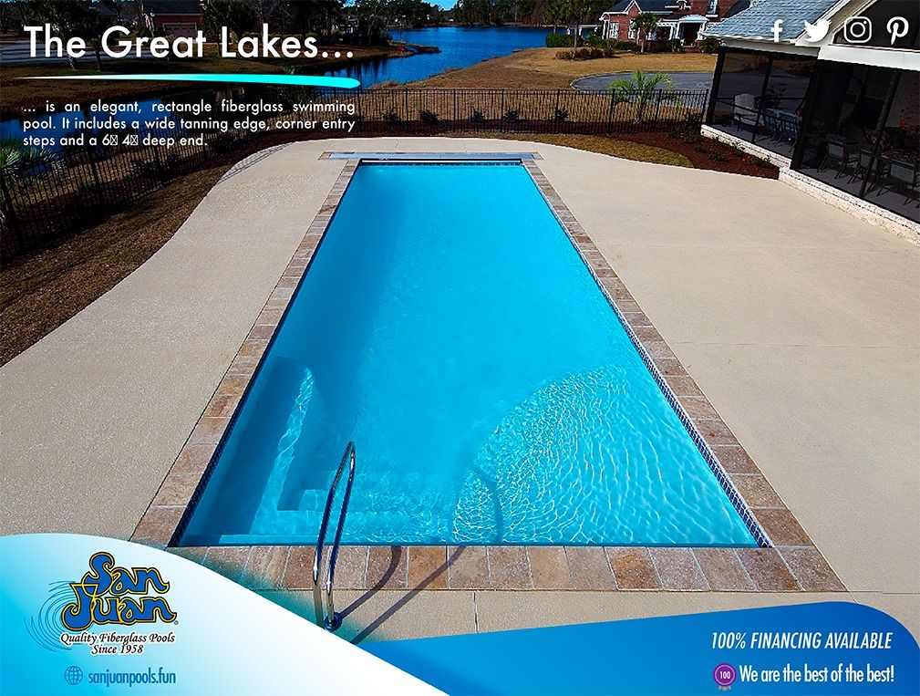 The Great Lakes San Juan Pools Fiberglass Pools Fiberglass Swimming Pools Pool