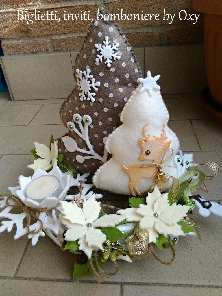 Centrotavola natale albero di natale centrotavola for Una decorazione e formata da cinque rombi simili