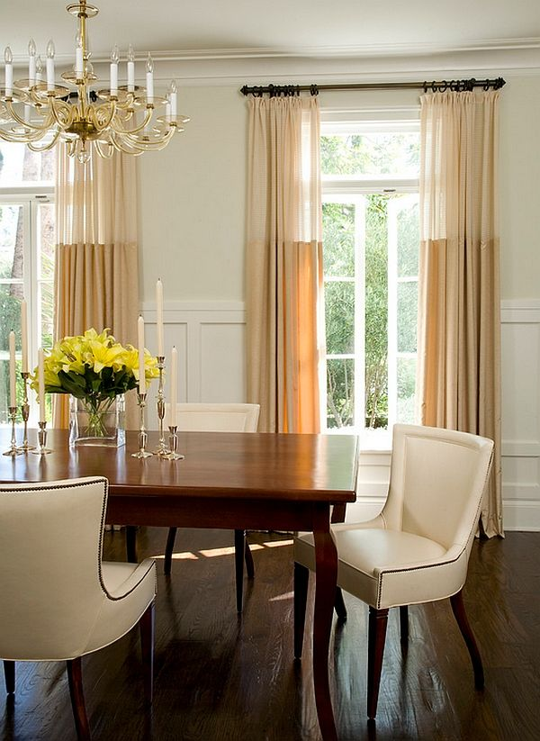 By Studio William Hefner Read More Http Www Decorationadvisor Com Decoration Guide Sensational S Dining Room Curtains Dining Room Drapes Dining Room Windows
