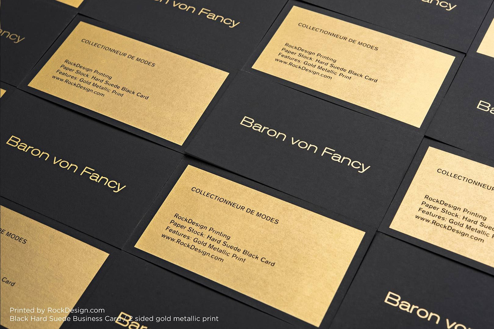 Hard Suede Business Cards | RockDesign Luxury Business Card ...