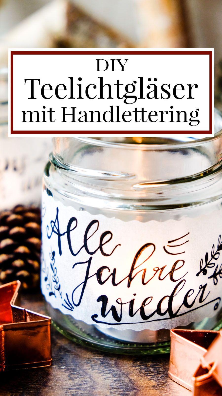 Winter DIY DIY Teelichtgläser   Teelichthalter, Transparentpapier ...
