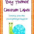 These bug themed classroom labels are fun and cute!  Labels include: whiteboard, trash, clock, door, window, sink, desk, chair, schedule, trash, ...