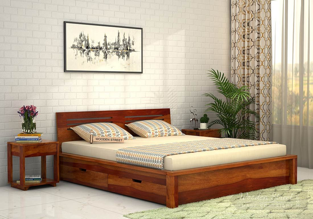 Buy Lynet Bed With Side Storage King