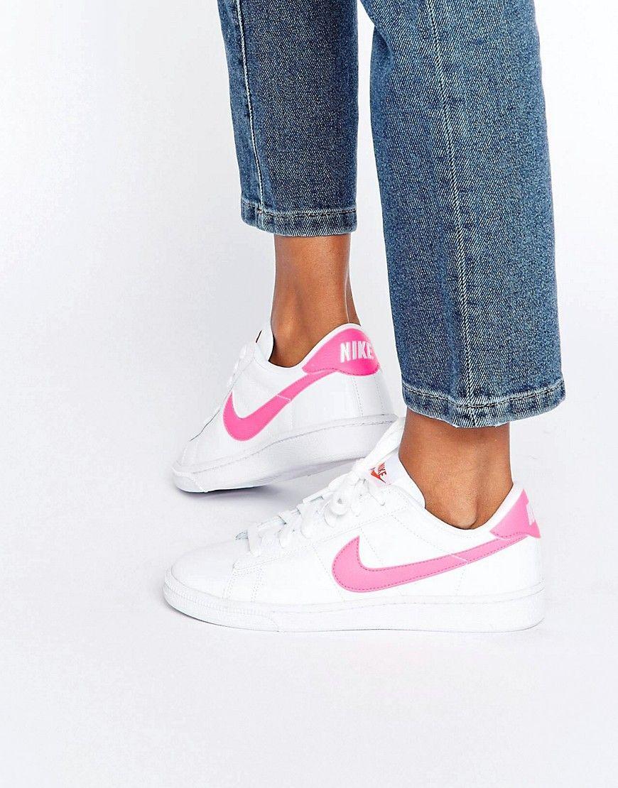 Cómpralo ya. blanco Zapatillas de deporte clásicas en blanco ya. y rosa Court 4fbf1a