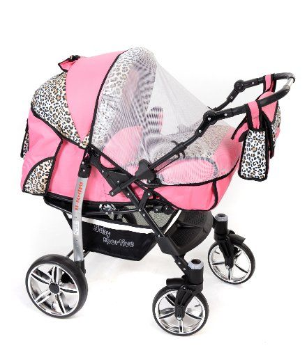 Sportive X2 3-in-1 Travel System, Black /& Red 3-in-1 Travel System incl Pushchair /& Accessories Car Seat Baby Pram with Swivel Wheels