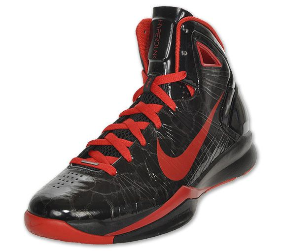 nike hyperdunk 2010 womens 407625 004 black team red