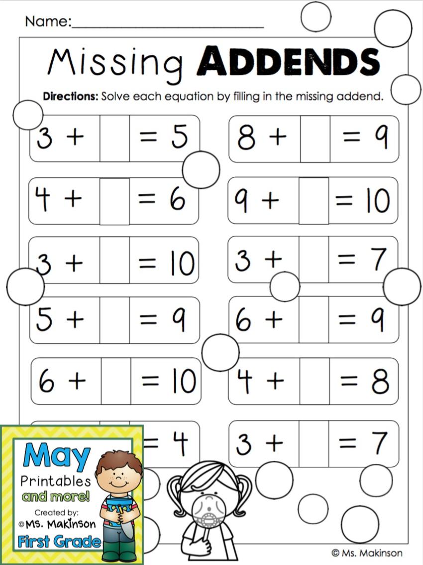 worksheet Missing Addend missing addends firstgradefaculty com pinterest math classroom activities addends