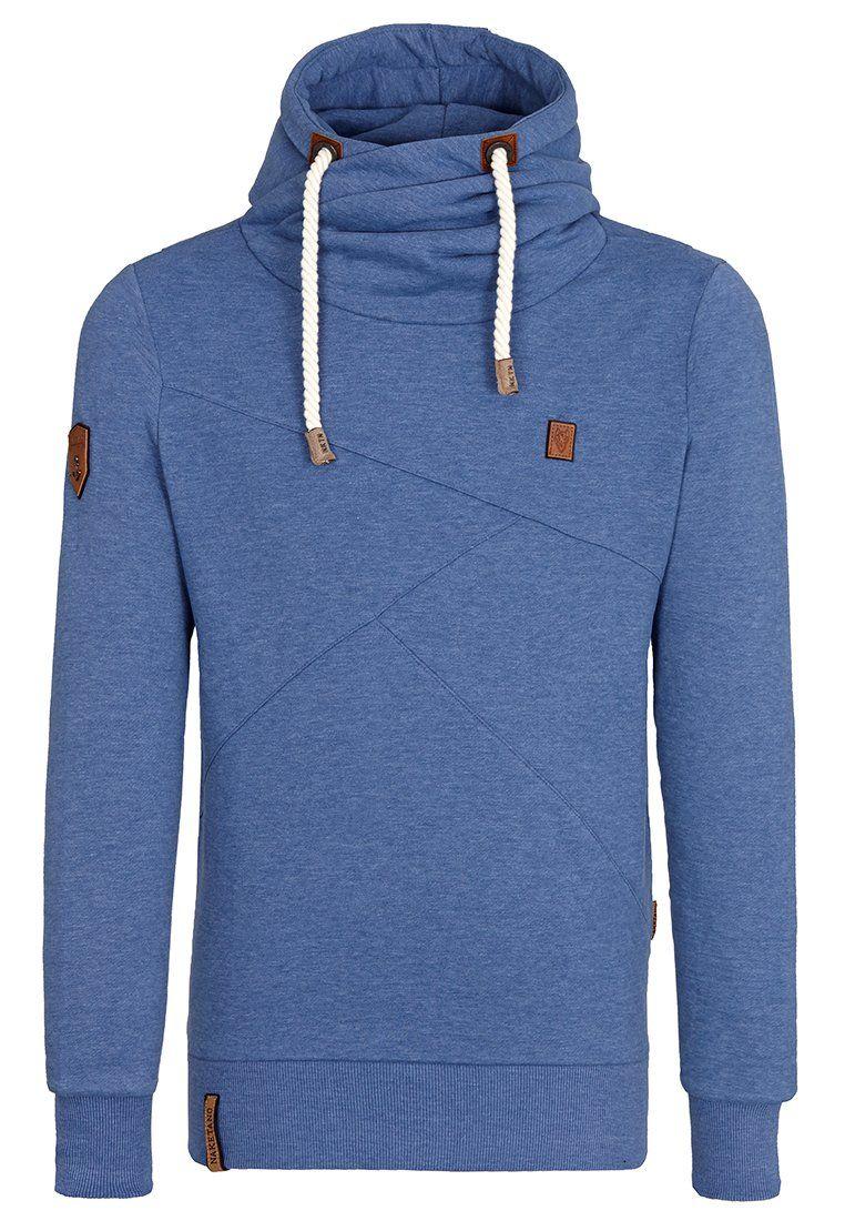 Naketano Men's Hoodie Lennox V (L, Blue Melange) | Clothes
