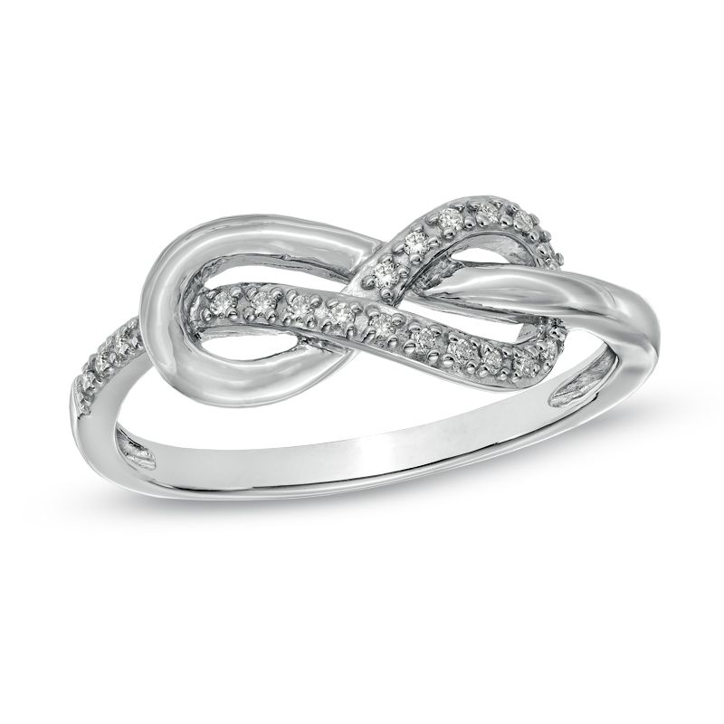 Diamond Accent Infinity Knot Ring In Sterling Silver View All