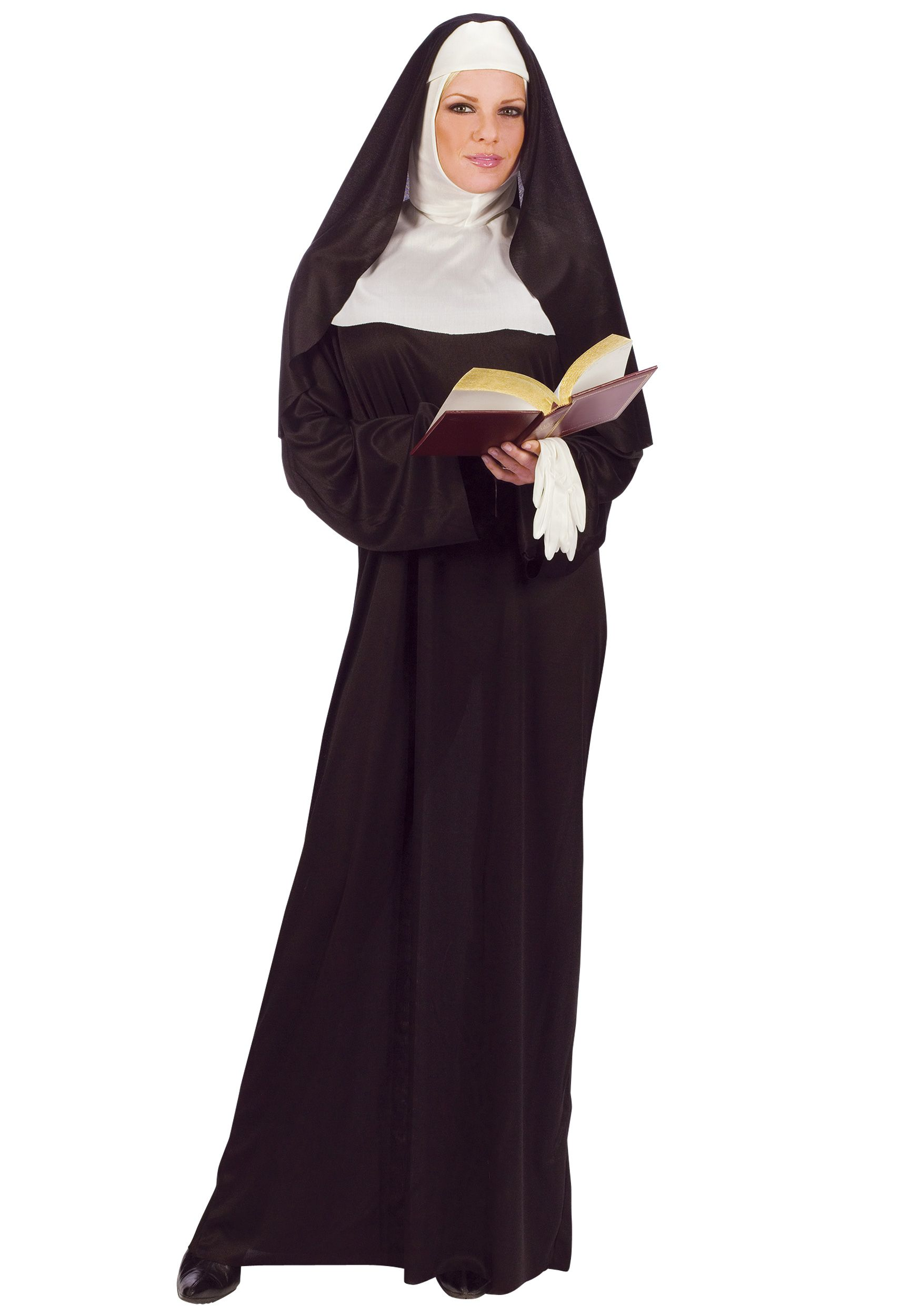 Adults Nun Religious Sister Act Convent Ladies Fancy Dress Outfit