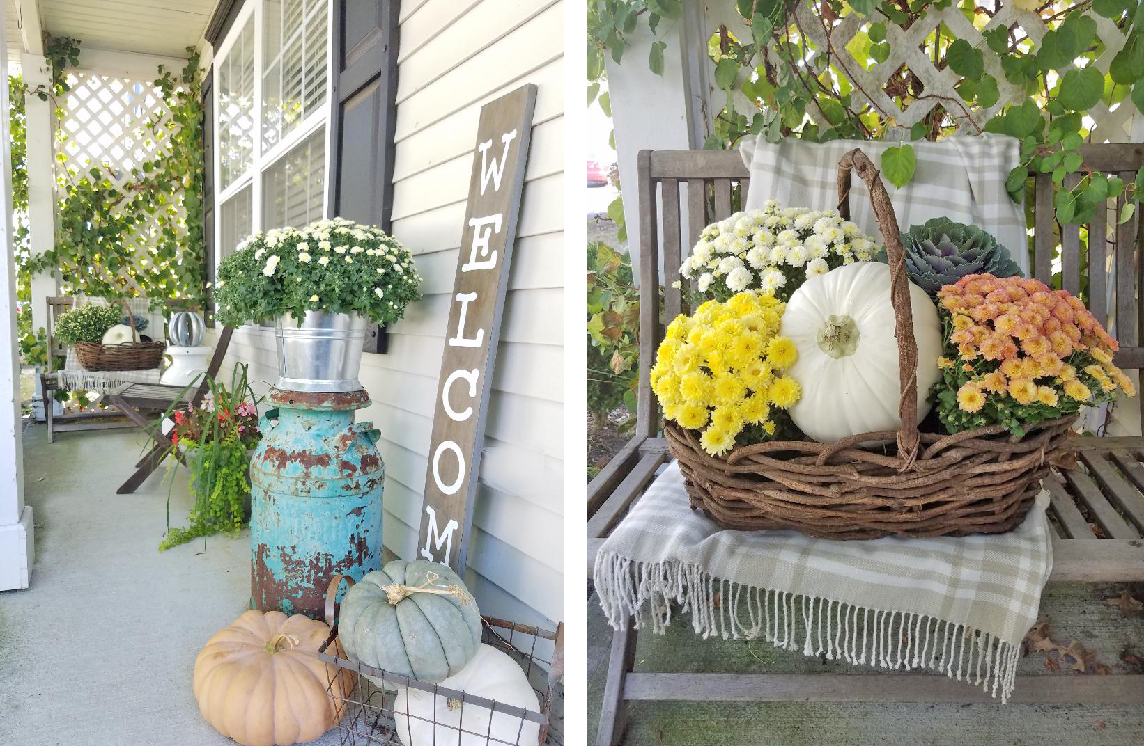 Fall Front Porch Décor Ideas and Inspiration #fallfrontporchdecor