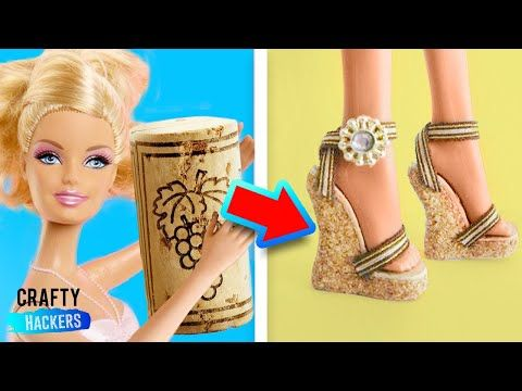 (14) 10 AWESOME DIY TO MAKE BARBIE ACCESSORIES - YouTube #barbiefurniture
