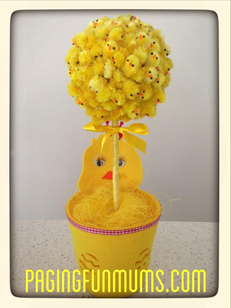 DIY Easter Topiary