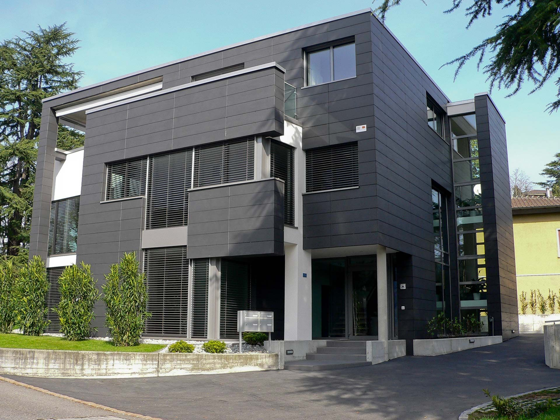 External Wall Insulation Of Residential Buildings Complex In Chiasso Architectural Coverings