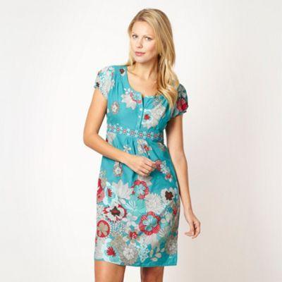 8bc9ce2617 Mantaray Aqua blossom summer dress- at Debenhams Mobile | mantaray ...