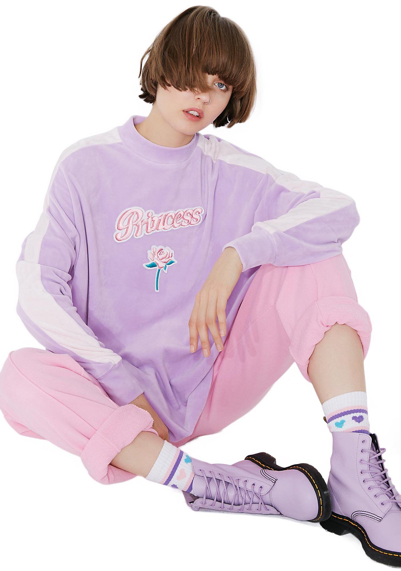 Princess velour sweatshirt lazy oaf sweatshirt and rose