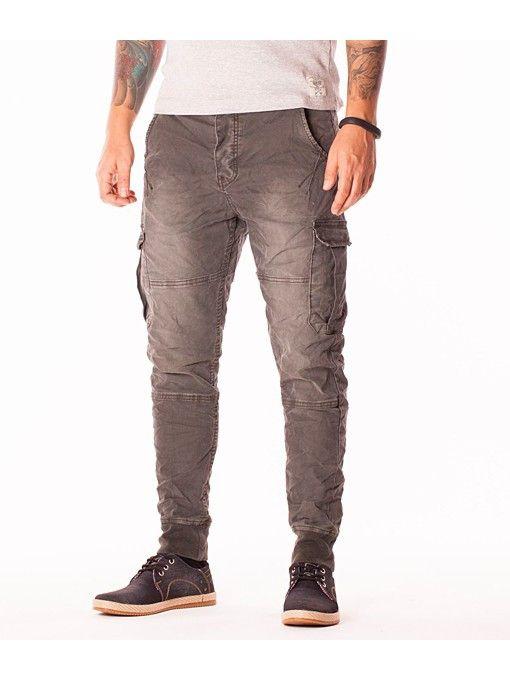 Pantaloni denim barbati US Jeans gri vernil