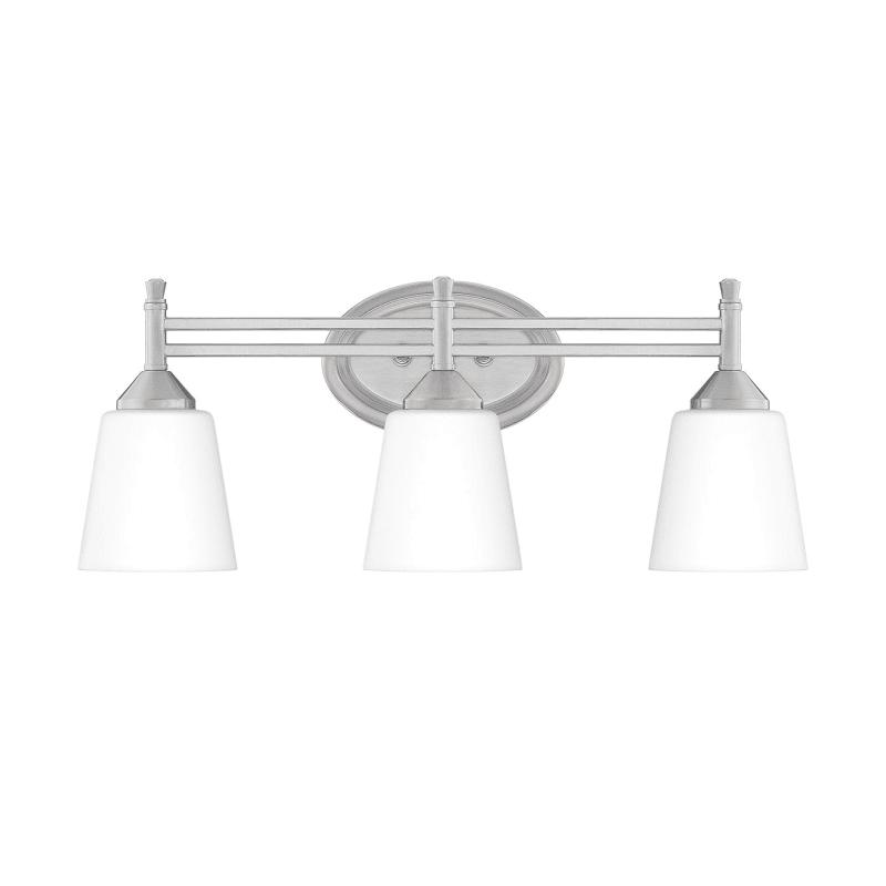 """Photo of Bellevue QZBF4394 Wise 3 Light 22 """"Wide Badezimmer-Waschtischleuchte mit Mattglas gebürstetem Nickel Innenbeleuchtung Badezimmerleuchten Waschtischleuchte"""