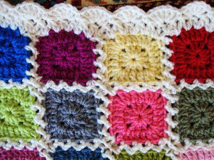 Kaleidoscope blanket: The edging | Manta y Tutoriales