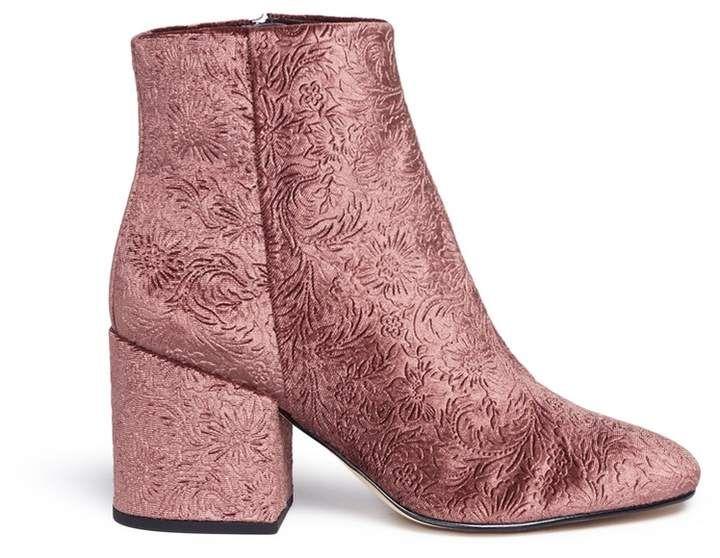 b5863d8ab Sam Edelman  Taye  floral jacquard velvet ankle boots