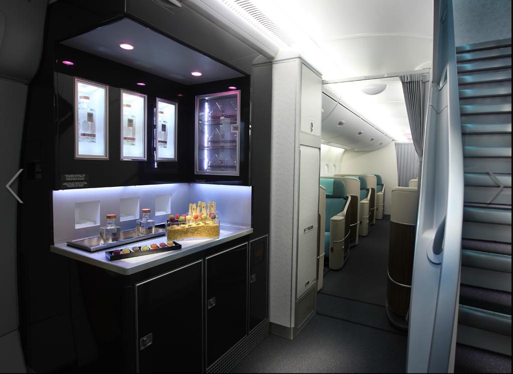 #KoreanAir First Class Bar Lounge