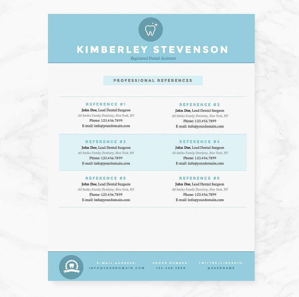 Crisp blue resume template pkg cover letter for resume