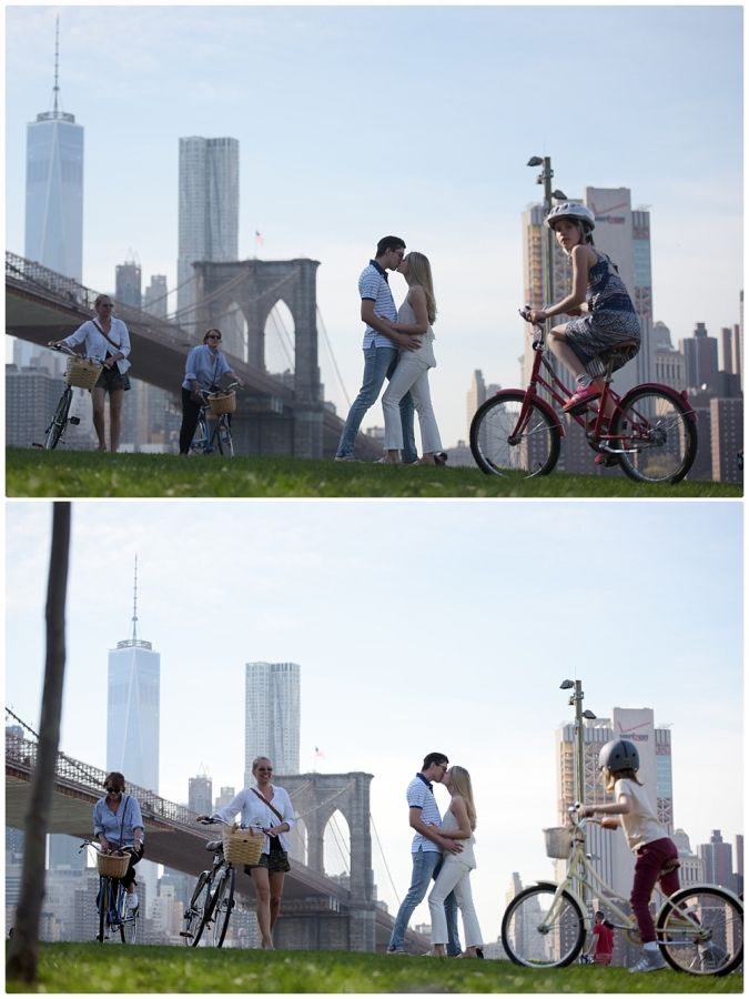 Carly and Brendan's Brooklyn NY. Engagement Session June