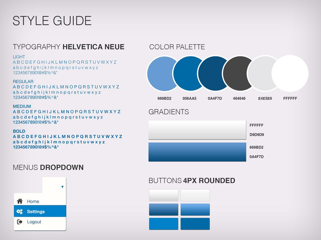 Style Guide Template User Interface Design Ios Redesign Checklist