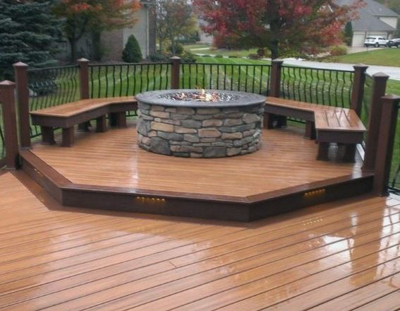 Photo of Top 50 Best Deck Fire Pit Ideas – Wood Safe Designs