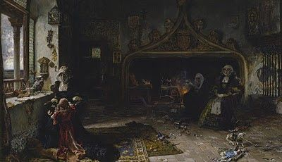 """Juana la Loca recluida en Tordesillas"" (Pradilla, 1906)"