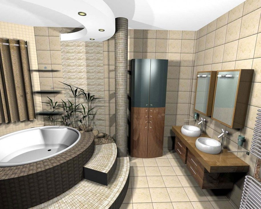 contemporary small bathrooms - Small Designer Bathroom