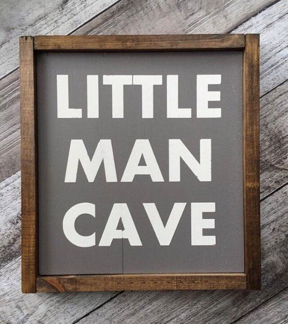 Little Man Cave Framed Sign, wooden sign, little boy, nursery, baby shower gift images