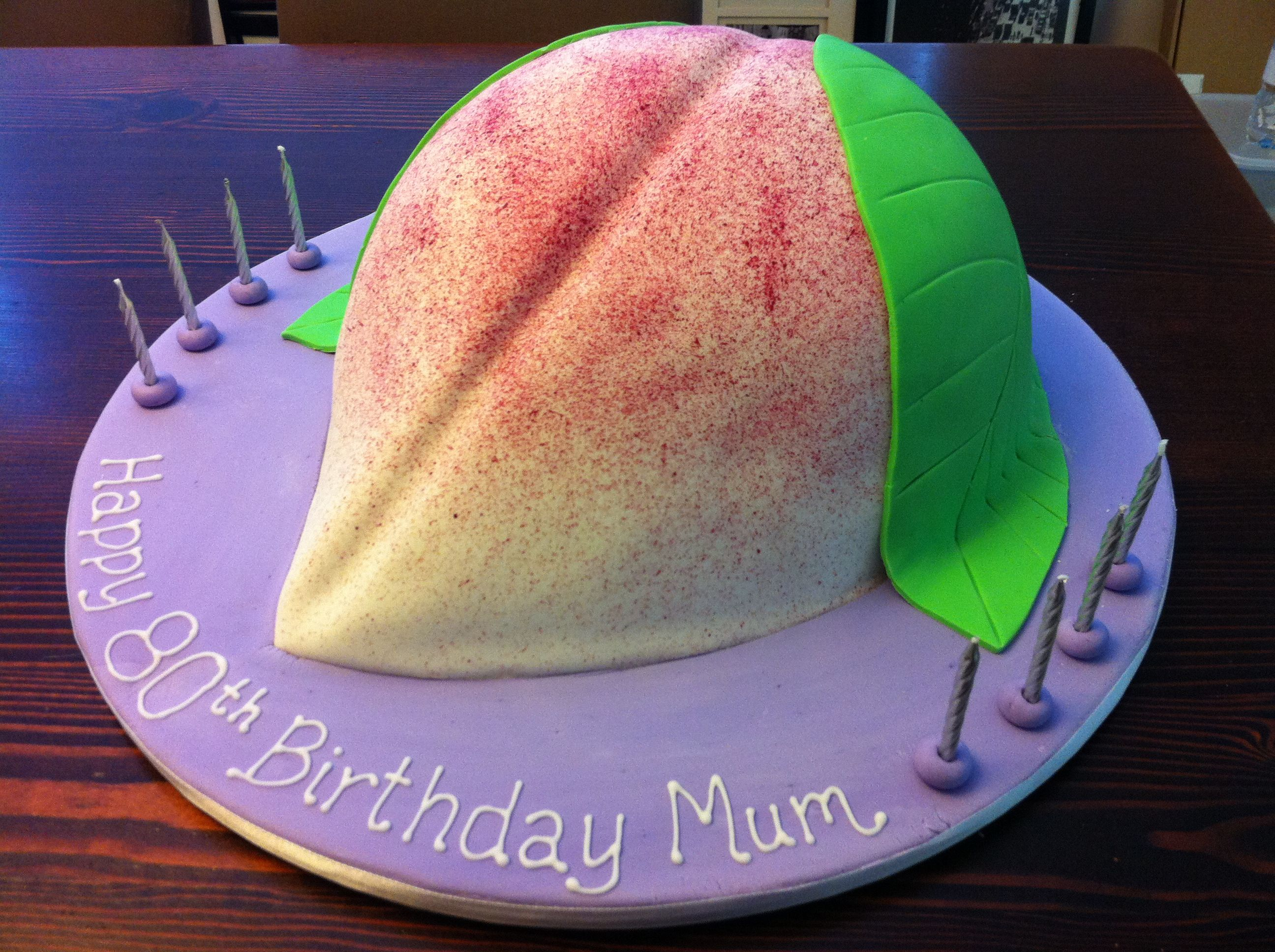 giant chinese longevity peach bun birthday cake       funkycakez com au