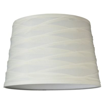 Mix-and-Match Lamp Shade - Layered Fabric Shade - White (Large).