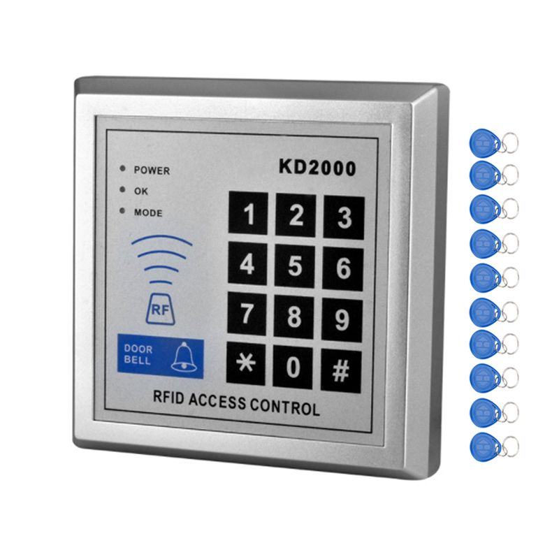 Rfid 125khz Access Control Keypad Smart Card Reader Door Lock System With Tk4100 Keychains Support 3000 Users F Access Control Door Security System Card Reader