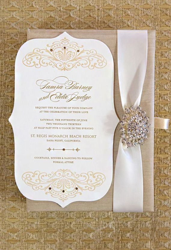 Request the pleasure of your company at the celebration of their without the jewels elegant wedding invitation stopboris Images