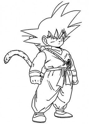 Descarga La Mejores Fotos De Goku Para Colorear De Coleccion Dragon Ball Coloring Books Coloring Pages