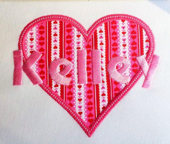 Valentine's Day girl heart tshirt $15 MaeMonograms