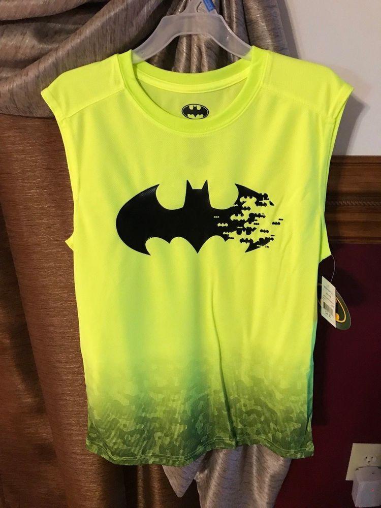 5fe6250c07dc2 BATMAN - Boys T-Shirt Tank Top XXL Yellow Bat Muscle Shirt  Batman  Everyday
