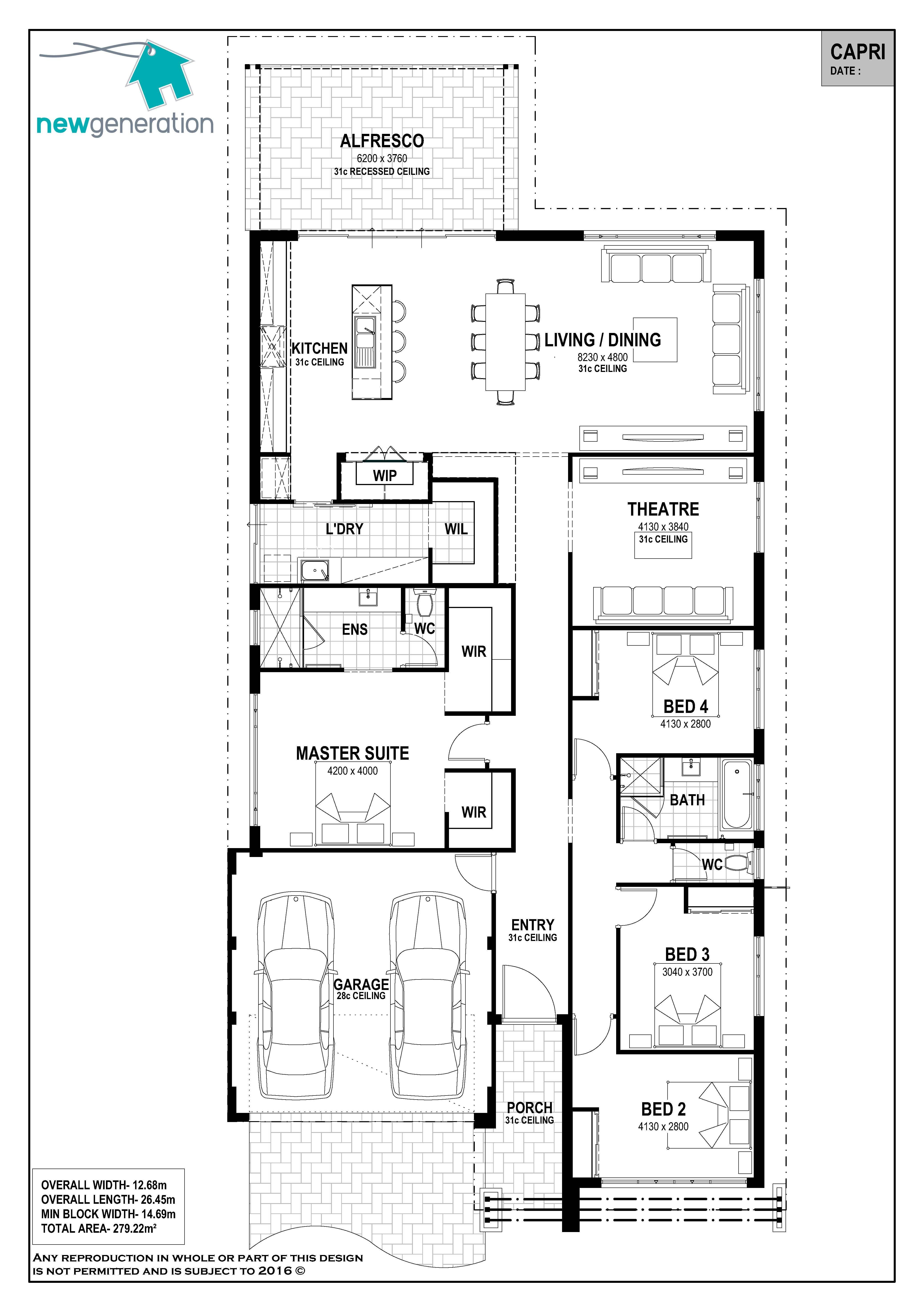 Capri New Generation Homes Best House Plans House Blueprints House Plans