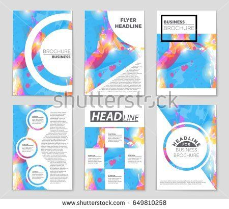 Abstract vector layout background set For art template design - blank sign in sheet printable