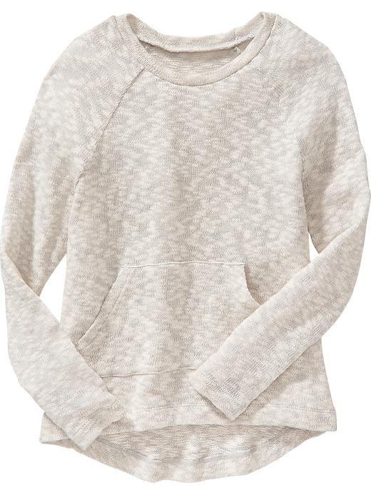 Girls Marled Pocket Sweaters Product Image