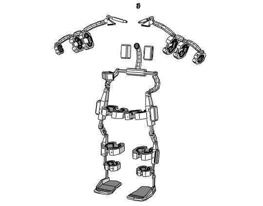 Life Size Bionic Exoskeleton Suit Free Papercraft Download Papercraft Download Exoskeleton Suit Paper Crafts