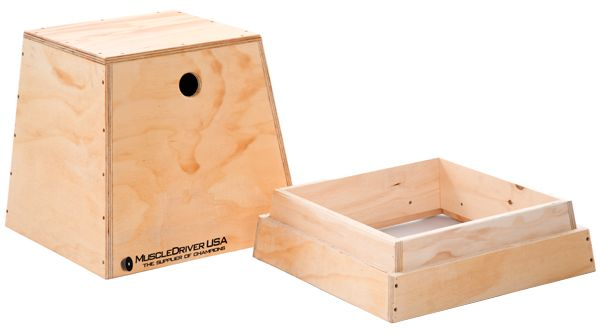 20 24 Inch Wooden Plyo Box And Room For Storage Fitness